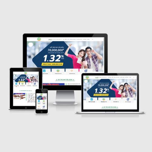 Mẫu Website Cho Vay Tín Dụng MA-307