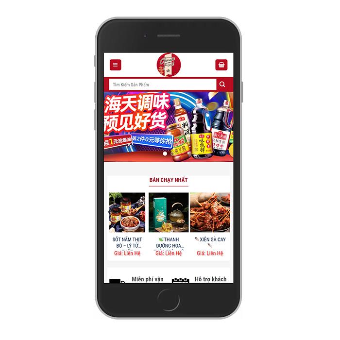 Mẫu Website Đồ Ăn Vặt MA-305