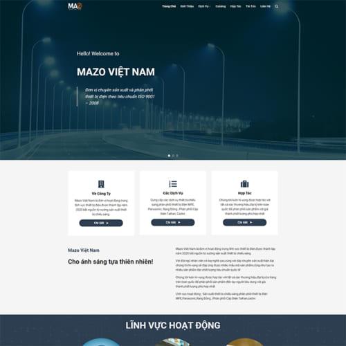 Mẫu Website Gia Công Thiết Bị Điện MA-308