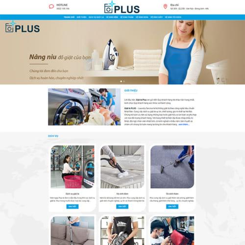 Mẫu Website Giặt Là MA-310