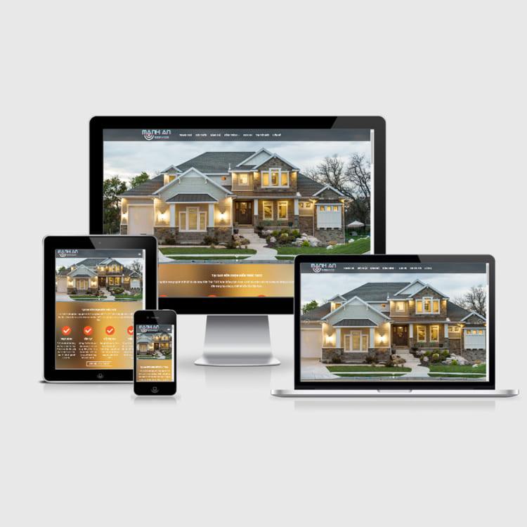 Thiết kế website xây dựng chuyên nghiệp