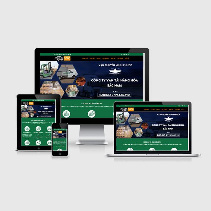 Mẫu Website Vận Chuyển Hàng Hóa MA-304