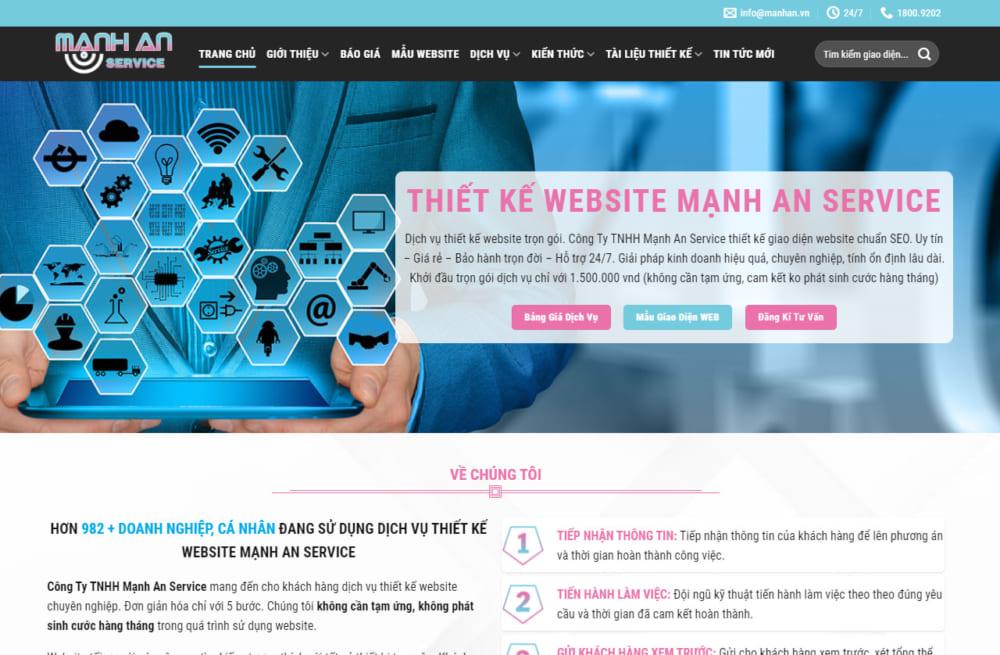 Hướng dẫn thay đổi các thông tin liên quan đến Mạnh An Service khi sử dụng web
