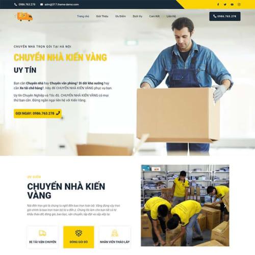 Mẫu Website Dịch Vụ Chuyển Nhà MA-317