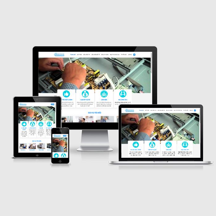Mẫu Website Dịch Vụ Sửa Chữa Ti Vi, Tủ Bếp, Lò Vi Sóng MA-314