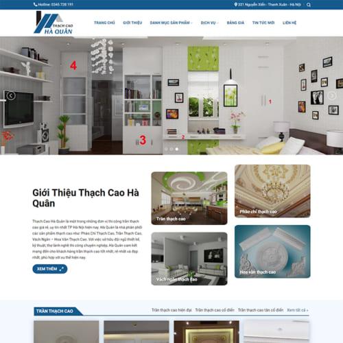 Mẫu Website Dịch Vụ Trần Thạch Cao MA-315