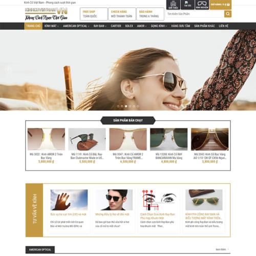 Mẫu Website Quần Áo Thời Trang MA-313