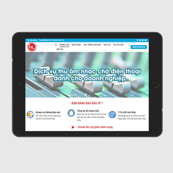 Mẫu Website Nhạc Chờ Thương Hiệu MA-318