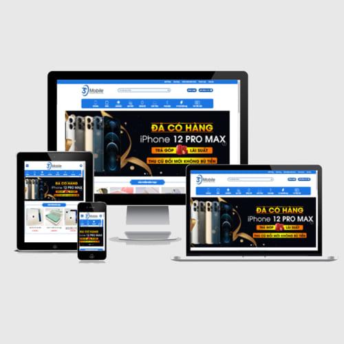 Mẫu Website Thương Mại Điện Tử MA-324