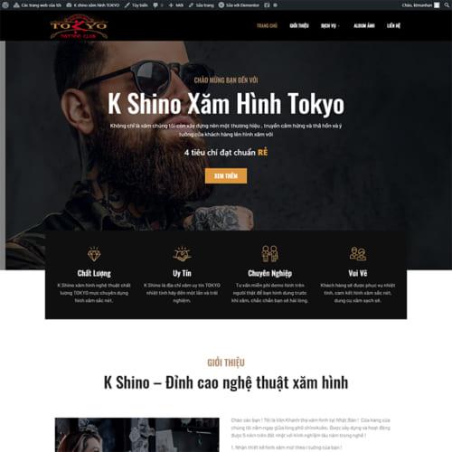 Mẫu Website Xăm Hình MA-323