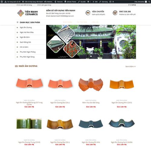 Mẫu Website Gốm Sứ Điện Tử MA-325