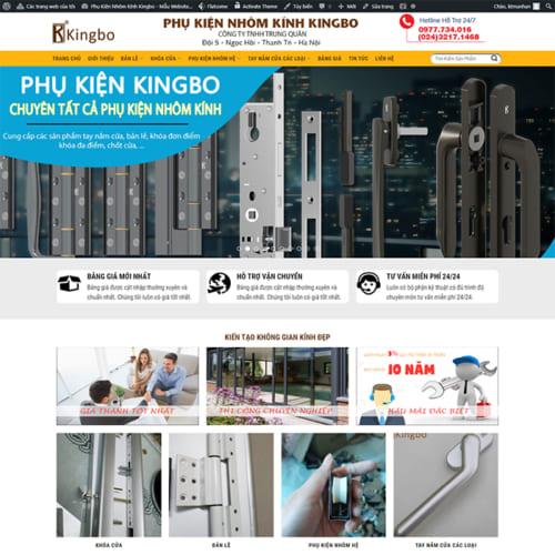 Mẫu Website Phụ Kiện Nhôm Kính MA-326