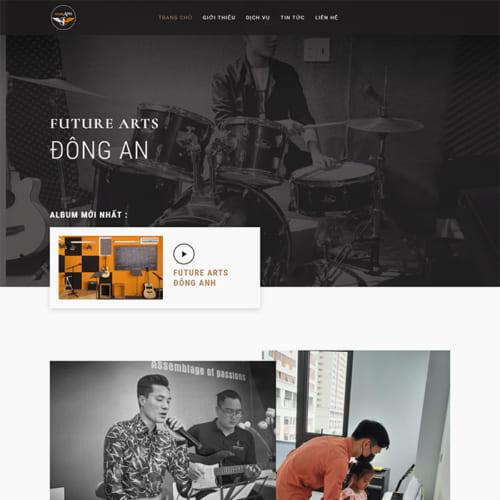 Mẫu Website Âm Nhac MA-321