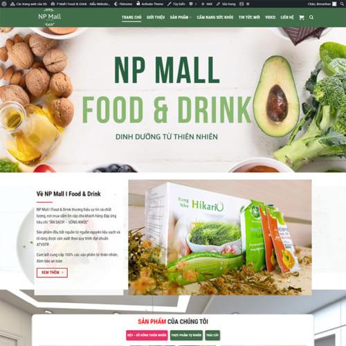 Mẫu Website Thực Phẩm Sạch MA-322